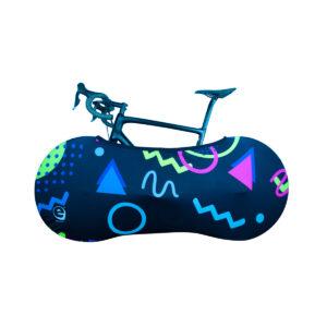 geometrical fluo cover bike