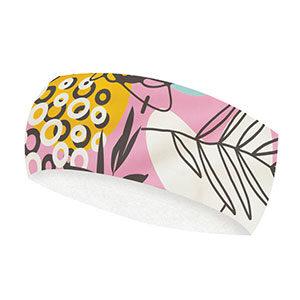 Pink tropical headband